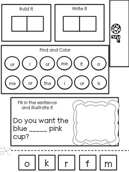 Sight Word Interactive Notebook 2