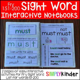 Interactive Sight Word Notebooks - Fry 151-200