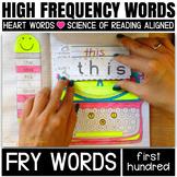 Sight Word Activities for kindergarten and First grade (Fry's 1-100 bundle)