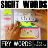 Sight Words for Kindergarten Interactive Notebook (100 Fry Words)