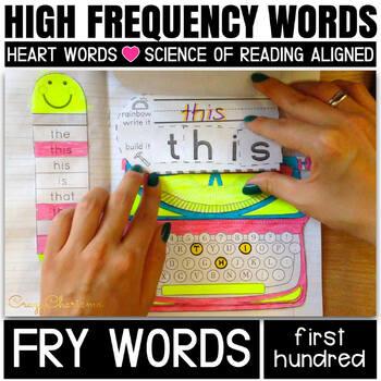 Sight Words for Kindergarten Interactive Notebook (100 Fry Words)