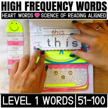 Sight Word Activities for kindergarten and First grade (level 1, 51-100 words)