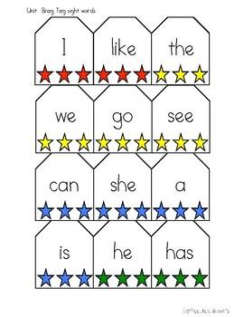 Sight Word Interactive Notebook Benchmark Advance Kindergarten Bundle