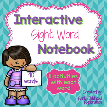 Sight Word Interactive Notebook-Booklet Style