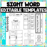 Editable Sight Word Interactive Notebook Templates
