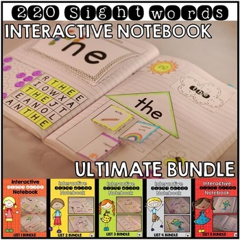 Sight Word Interactive Notebook Bundle Ultimate Edition {220 Words}
