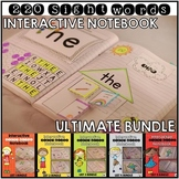 Sight Word Interactive Notebook Bundle Ultimate Edition 220 Words