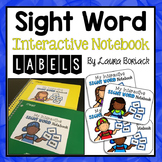 Labels for Sight Word Notebooks