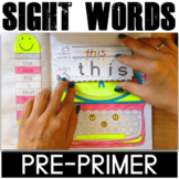 Pre-primer sight words activities
