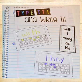 Fry Words 51-100 Interactive Notebook Activities - Editable