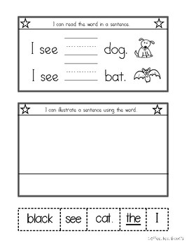 Sight Word Interactive Notebook Fry's First 50 Words