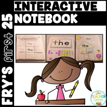 Sight Word Interactive Notebook Fry's First 25