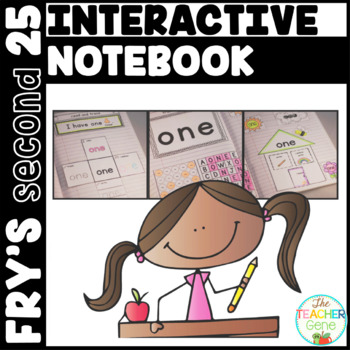 Sight Word Interactive Notebook Fry's Second 25