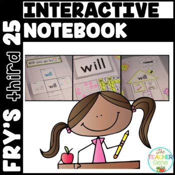 Sight Word Interactive Notebook Fry's Third 25