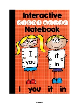 Sight Word Interactive Notebook (I, you, it, in) Pre-Primer Set 2