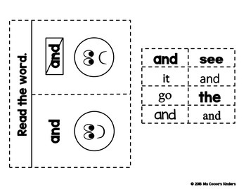 Sight Word Interactive Notebook - Pre-Primer