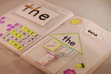 Sight Word Interactive Notebook (the, to, and, a) Pre-Prim