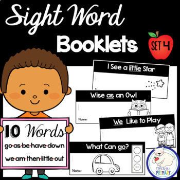 Sight Word Interactive Readers: Set 4 Books
