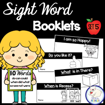 Sight Word Interactive Readers: Set 5 Books
