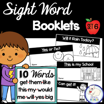 Sight Word Interactive Readers: Set 6 Books
