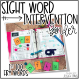 Sight Word Intervention Binder (First 100 FRY Words)
