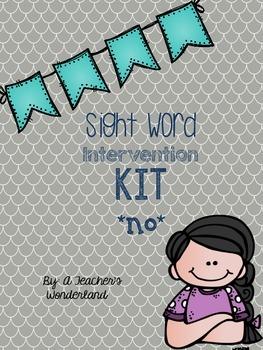 Sight Word Intervention Kit-No