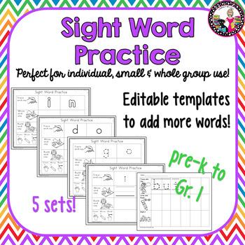 Sight Word Intervention & Practice!