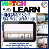RTI   Kindergarten & First Grade Sight Word Fluency Tool   Find