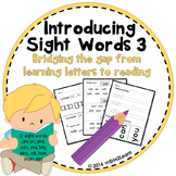 Sight Word Introduction Lessons 3- First sight words 3