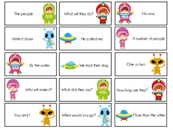 Sight Word Invasion! - A Space Themed Board Game - Level 1