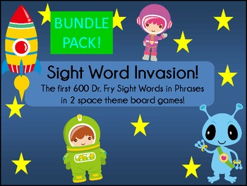 Sight Word Invasion! - A Space Themed Board Game - Level 1-6