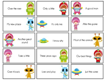 Sight Word Invasion! - A Space Themed Board Game - Level 2