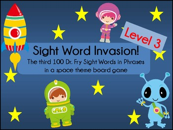 Sight Word Invasion! - A Space Themed Board Game - Level 3