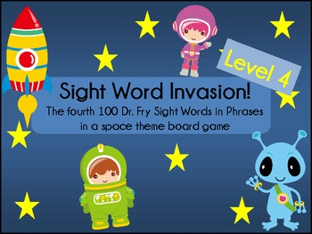 Sight Word Invasion! - A Space Themed Board Game - Level 4