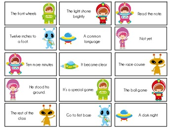 Sight Word Invasion! - A Space Themed Board Game - Level 5