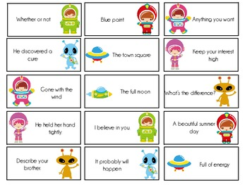 Sight Word Invasion! - A Space Themed Board Game - Level 6
