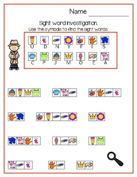 Sight Word Investigation