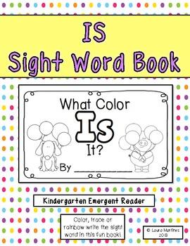 "Sight Word ""Is"" Emergent Reader"