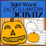 Sight Word Jack-O-Lantern Kindergarten Literacy Center for