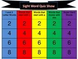 Sight Word Jeopardy