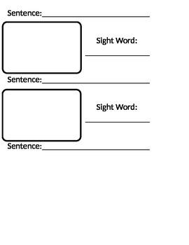 Sight Word Journal