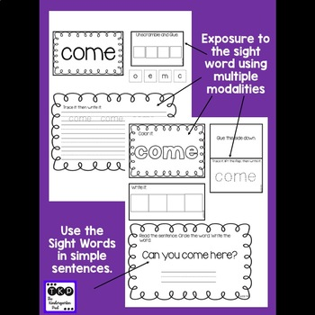 Sight Word Journal BUNDLE