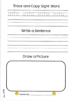 Sight Word Journal Book 2
