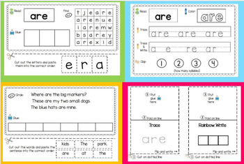 Sight Word Journal Bundle (All 52 Primer Dolch Sight Words)