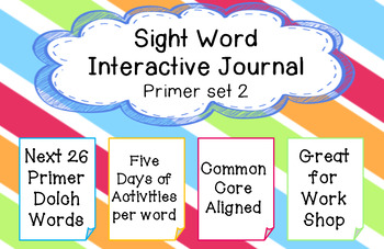 Sight Word Journal  (Primer Set 2)
