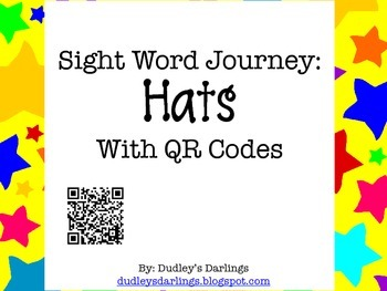 Sight Word Journey: Hats with QR Codes