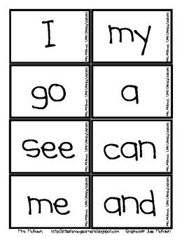 Sight Word Jump Up-Kindergarten