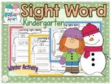 Sight Word Kindergarten Winter Activity