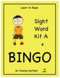 Best Sight Word Kit A + Bingo  (LTR) (Distance Learning)