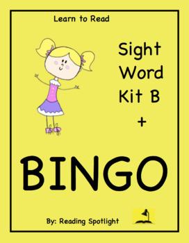 The BEST Sight Word Kit B + BINGO  (LTR)